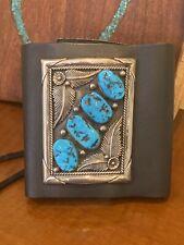 Sleeping Beauty Turquoise Zuni Ketoh bow guard. Sterling Silver. Fine Work!