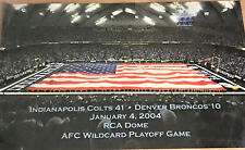 2004 Indianapolis Colts RCA Dome poster 18 X 20 New  A20 Vs Denver Broncos