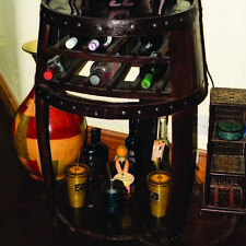 "Recycled Solid Oak Whisky Barrel ""The Middleton"" Wine Rack and Table"