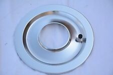 "14"" Chrome Flat Air Cleaner Base 5-1/8"" Neck Opening 4 Barrel Chevy Ford Mopar"