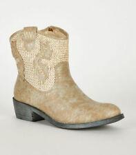 Scarpe da donna stivali da cowboy senza marca marrone