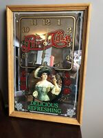 """Vintage Drink PEPSI-COLA """"Delicious Refreshing"""" Clock Mirror Glass Sign Works"""