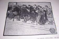 1911 LA SOUPE POPULAIRE by George Dupuis Print French Artist