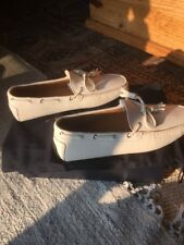 Ralph Lauren Harold Tassel White Vachetta Size 10D Men