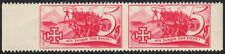 Österreich 1938 Schuschnigg Vignette 5 Groschen Rot im Paar postfrisch DB