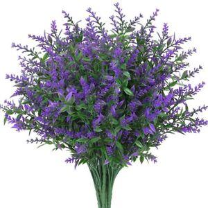1 Pc  Artificial Lavender Flower Fake Floral Plastic Branch Home Wedding Decor