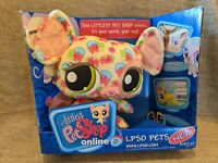 NEW Littlest Pet Shop Online LPSO Pets Mouse Plush Pink Swirls In Retail Box
