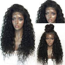 "26"" Brazilian Lace Front Wig Human Hair Glueless Curly Full Wigs hair Cosplay"