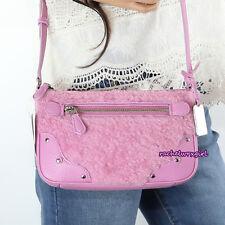 NWT Coach Shearling Small Rhyder Pochette Crossbody Bag 36490 Marshmallow Pink