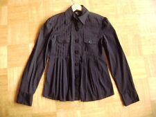 @ Bebe @ Blouse with many pleats black size M gr. 36/38 Ideal For Petite