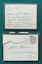 More details for antique signed card & posted qv envelope prince of wales king edward vii 1892