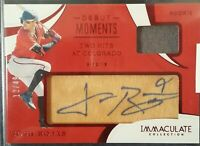 JOSH ROJAS 2020 PANINI IMMACULATE ROOKIE DEBUT MOMENTS RELIC AUTO #/49 DBACKS RC