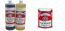 Teak Wonder Kit: 1 lt di Cleaner + 1 lt di Brightener + 1 lt di Dressing Sealer
