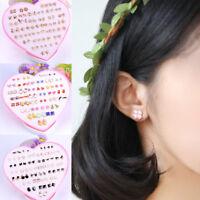 12/36Pair Various Hypoallergenic Ear Stud Women Girls Crystal Earrings Jewelry