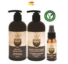 Barba Champú Acondicionador Crema Hidratante de cara aceite completo Kit de rega