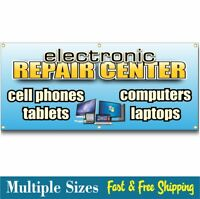 COMPUTER REPAIR BANNER sign cell phone tablet electronics 002