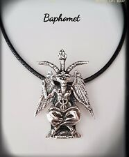 BAPHOMET PLATA, GOAT OF MENDES, NECKLACE, SILVER,ELIPHAS LEVI, SATAN, 925ml