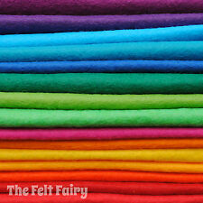 Wool Mix 9 inch Felt Square 15 x Big Bright Colour Pack