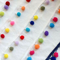 1/5Yards Pom Pom Trims Colorful Balls Trimmings DIY Craft Upholstery Lace Edge