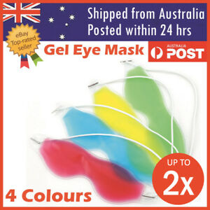 Relaxing Gel Eye Mask Cold Pack Warm Hot Heat Ice Cool Pad Puffiness Headache