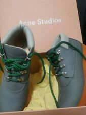 women girl acne studios tinne contrast boots orange grey hiking luxury Boot