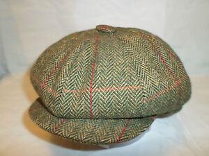 Mens retro 20's 30's newsboy bakerboy cabbie 8 piece cap  made in England uk