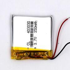 3.7V 350 mAh Li-Polymer 403030 Li Po Battery Rechargeable for GPS Bluetooth MP3