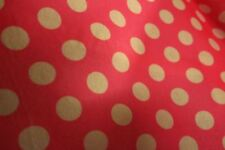 Acrylic Felt Red with White Polka Dots 60 inches By The Yard