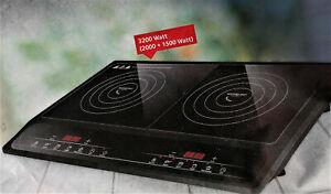 MICHELINO Doppel-Induktionkochplatte 2000 + 1500 W Doppelinduktionskochfeld
