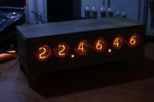 IN-4 NIXIE TUBE CLOCK VINTAGE Pulsar ASSEMBLED ADAPTER 6-tubes by RetroClock