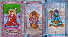 Indian Hippie God Tapestry Bohemian Bedspread Ethnic Dorm Decor Lot of 3 New Art