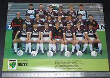 CLIPPING POSTER FOOTBALL 1986-1987 FC METZ LORRAINE SAINT-SYMPHORIEN GRENATS