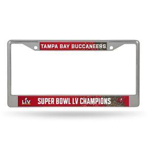 Tampa Bay Buccaneers Super Bowl LV Champions Metal Chrome License Plate Frame