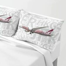 Qantas Boeing 787 with Airport Codes - Standard Set of Pillow Shams