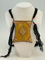 Tuareg Tribe Necklace Talisman Mixed Metal/Leather/Wool Amulet Pendant African