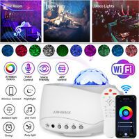 WiFi LED Galaxy Light Projector Starry Star Sky Night Smart Lamp Speaker Control