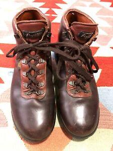 Vintage Vasque Hiking Boots Skywalk Sundowner Size 11 Gore Tex 7535 Brown