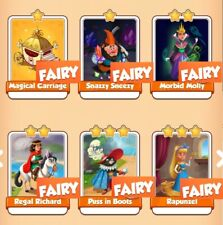 Fairy Tales Set Collection Coin Master: Carriage, Rapunzel etc(Fast Delivery)