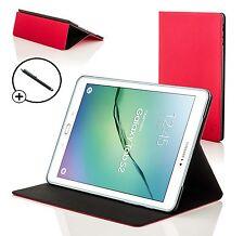 Rouge Coquille De Palourde Smart Étui Housse Pour Samsung Galaxy Tab S2 9.7 T810