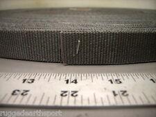 "Gray 1"" Inch Locking Slot Nylon Webbing Heavy duty 3,500 lb Mil-Spec 50 yd roll"