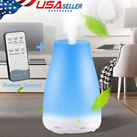 LED Essential Oil Diffuser Aroma Cool Mist Humidifier +Remote Control+US Plug