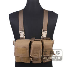 Emerson Tactical Combat Assault Lightweight Chest Rig Vest Harness w/ Pouches