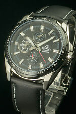 Casio Edifice EF-336L-1 Analog Gents Dress Men's Black Watch 100% Original New
