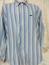 FACONNABLE RELAXED FIT XL Blue White Multi Stripe Shirt