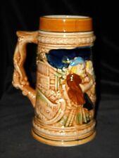 Very Nice Vintage Colorful Ceramic Beer Stein, Made in Japan