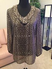 Chico's Animal Print Blouse, Size 1 = (8/10 or M)