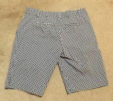 IZOD XFG Bermuda Golf Shorts Blue Black Jack Stretch Cotton Misses 2
