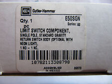 Cutler Hammer E50SGN Limit Switch Body 120V Light 1 N.O. - 1 N.C. NEW!!! in Box