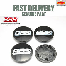 4x Genuine BBS Center Caps 76.5mm Black Porsche Application BBS SR NEW
