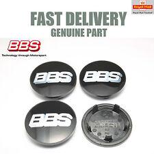 4x Genuine BBS Center Caps 76.5mm Black Porsche Application BBS SR NEW